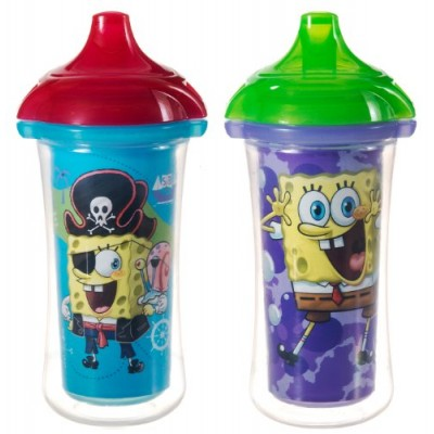 Munchkin 2 Piece SpongeBob SquarePants Insulated Sippy Cup, Colors May Vary, 9 Ounce