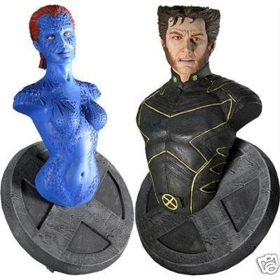 Marvel X-Men Movie - Wolverine and Mystique - Mini Bust Set