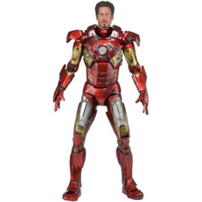 NECA Avengers Battle Damaged Iron Man Action Figure, 1/4 Scale
