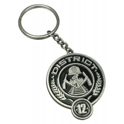 "The Hunger Games Movie ""District 12"" Metal Keychain"