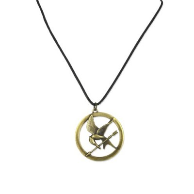 "The Hunger Games Necklace Pendant Necklace On Leather Cord ""Brooch"""