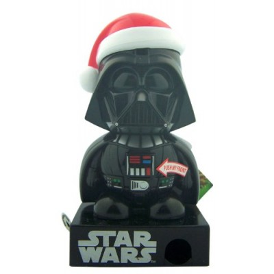 """Darth Vader in Santa Hat 5"""" Figurine Star Wars Character Candy Dispenser with Sound"""