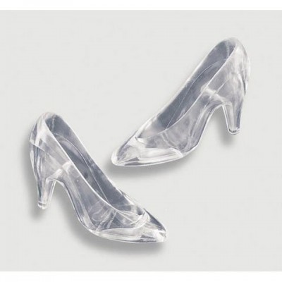 Plastic Cinderella Slipper (8 Count) - Clear