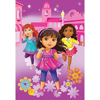 Nick Jr Dora and Friends City Girls Micro Raschel Blanket, 62 by 90-Inch