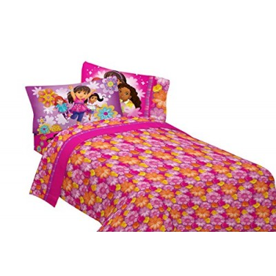 Nick Jr Dora and Friends Hola Amigas 60-Percent Cotton/40-Percent Polyester Sheet Set, Twin
