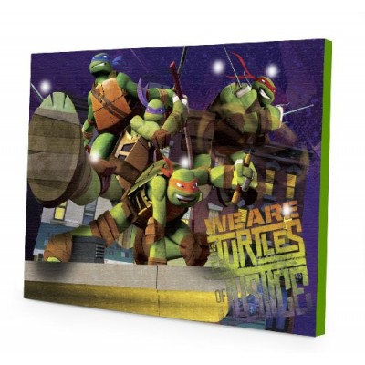 Nickelodeon Teenage Mutant Ninja Turtles LED Canvas Wall Art, 15.75-Inch x 11.5-Inch