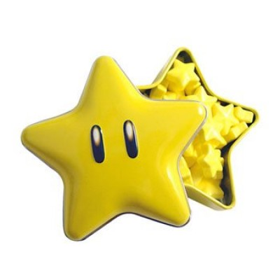 New Super Mario Brothers Super Star Tin(one) with star candies inside