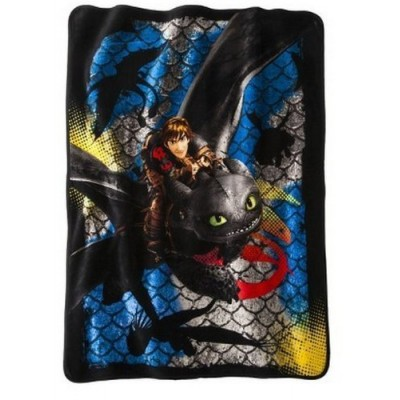 "How to Train Your Dragon 2 Dragon Scale Super Plush Throw 46""x60"""