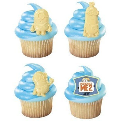 1 X Despicable Me 2 Minion Cupcake Rings - 12 ct