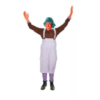 Charlie Chocolate Factory Worker Oompa Loompa Male Fancy Dress - Large