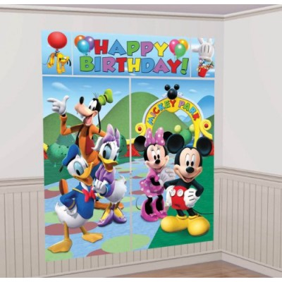 American Greetings 5-Piece Set Mickey Scene Setter, Multicolored