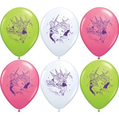 "Disney Tinkerbell Peter Pan Birthday Assorted 12"" Latex Party Balloons 6pk"