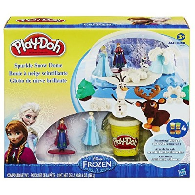 Play-Doh Disney Frozen Sparkle Snow Dome Set with Elsa and Anna