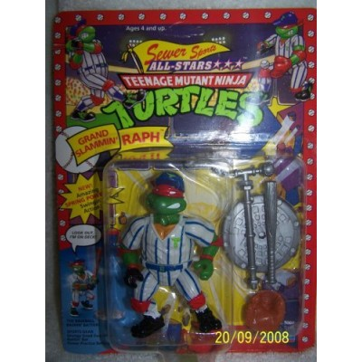 "1991 Playmates Teenage Mutant Ninja Turtles Sewer Sports All-stars ""Grand Slammin' Raph"""