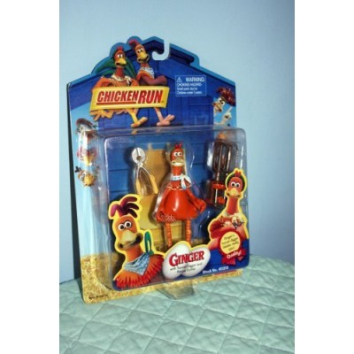 Chicken Run Figure and Accessories: Ginger with Tunnel Digger and Fence Cutter by Playmates
