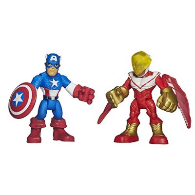 Playskool Heroes Marvel Super Hero Adventures Captain America and Marvel's Falcon Figures