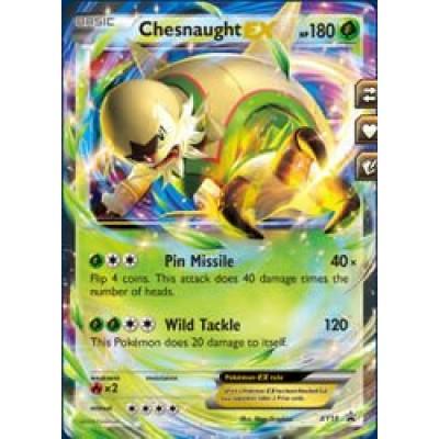 Pokemon - Chesnaught EX (18) - XY Black Star Promos - Holo