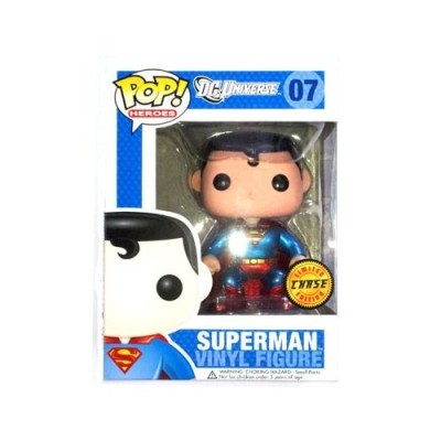 DC Comics Pop! Heroes Superman Chase Metallic Variant Vinyl Figure