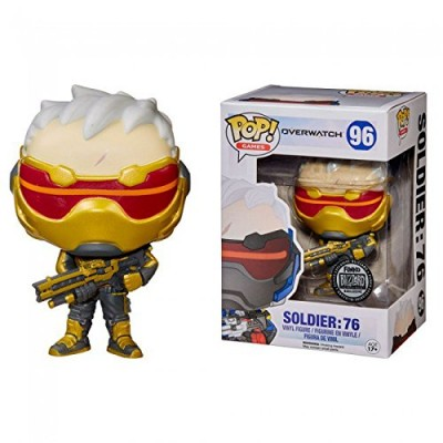 Funko Pop! Games Overwatch Soldier 76 Gold BlizzCon Blizard Exclusive
