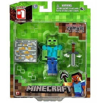 "Overworld Zombie ~2.75"" Minecraft Mini Fully Articulated Action Figure Pack"