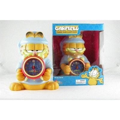"""New 10"""" Garfield Figural Piggy Coin Bank with Detachable Alarm Clock Comes with Batteries by Precious Kids"""