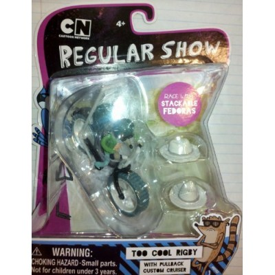 Regular Show Too Cool Rigby W/pullback Custom Cruiser and Stackable Fedoras