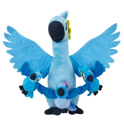 "Rio 2 Movie - 12"" Plush Jewel with Kids [Carla, Bia & Tiago], Kids 3-1/2"" T"