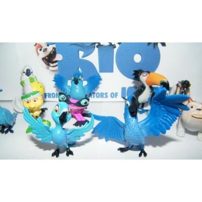 Rio Movie Mini Toy Figure Playset of 12 with Blu, Jewel, the 3 Kids, Luiz, Nigel and New Characters Gabi, Charlie and More!