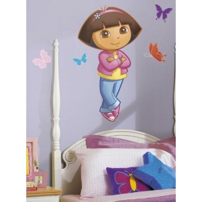 RoomMates RMK1400GM Dora the Explorer Peel & Stick Giant Wall Decal