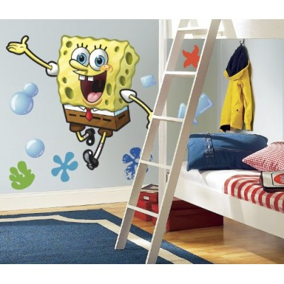 RoomMates RMK1406GM SpongeBob Squarepants Peel & Stick Giant Wall Decal