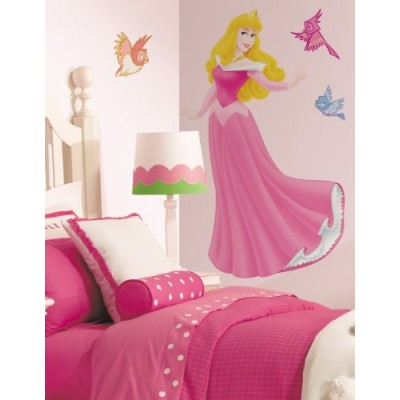 Roommates Rmk1466Gm Sleeping Beauty Peel & Stick Giant Wall Decal With Gems