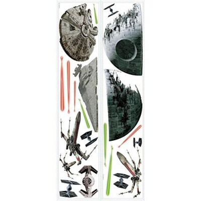 RoomMates RMK3012SCS Star Wars EP VII Spaceships P&S Wall Decals, 20 Count