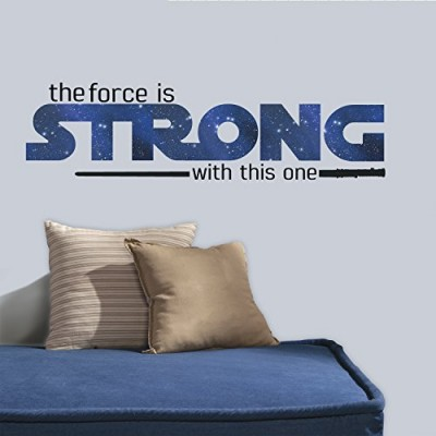 "RoomMates RMK3077SCS Star Wars Classic The Force is Strong P&S Wall Decals, 35.25"" x 10"""