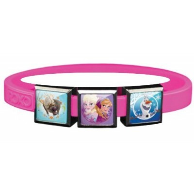 Disney Frozen Bracelet with Elsa, Anna, Sven and Olaf Charms - Pink,Small,Pink