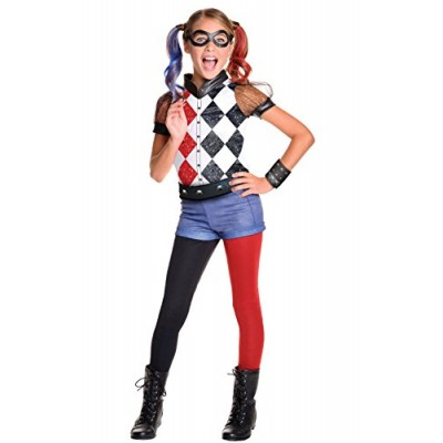 Rubie's Costume Kids DC Superhero Girls Deluxe Harley Quinn Costume, Large