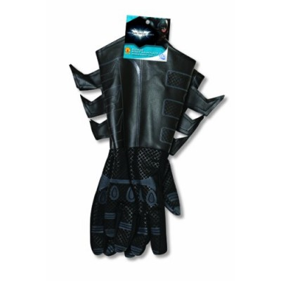Batman The Dark Knight Rises Batman Gauntlets Costume, Black, One Size