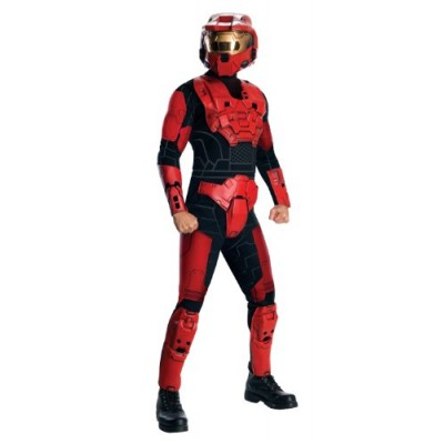 Halo Deluxe Spartan Costume, Red, X-Small