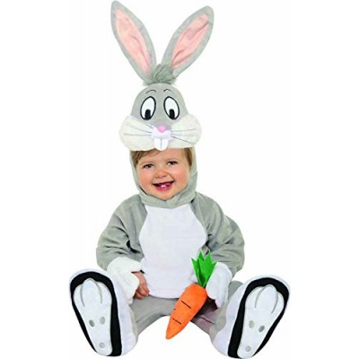 Looney Tunes Bugs Bunny Romper Costume, Gray, 12-18 Months