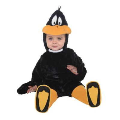Looney Tunes Daffy Duck Romper Costume, Black, 6-12 Months