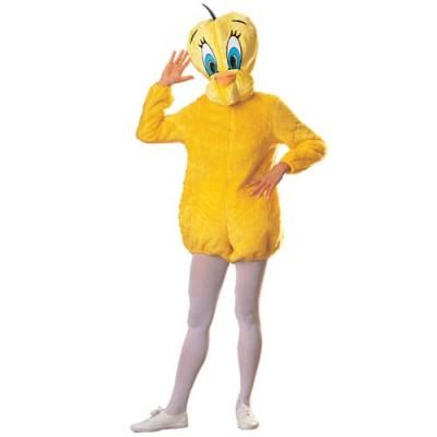 Looney Tunes Deluxe Tweety Bird Costume, Yellow, One Size