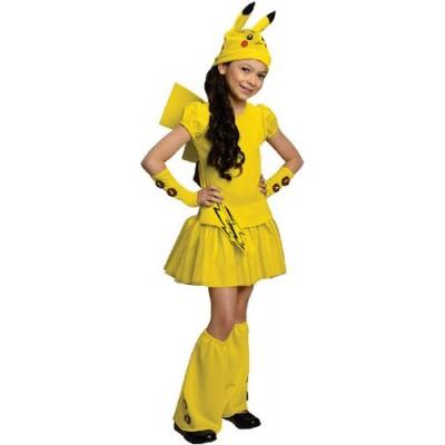 Pokemon Child's Pikachu Costume Dress, Medium
