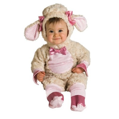 Rubie's Costume Baby-girls Infant Noah Ark Collection Lucky Lil Lamb Costume, Beige/Pink, Newborn