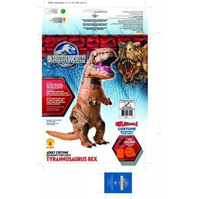 Rubie's Costume Co Jurassic World T-Rex Inflatable Costume, Multi, One Size