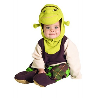 Rubie's Costume Co Shrek Romper And Headpiece Shrek, Shrek Print, Newborn (0-9 Months)