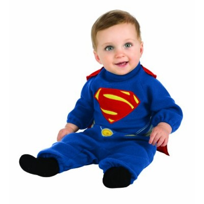 Rubie's Costume Man Of Steel Superman Romper, Blue/Red, 12-24 Months
