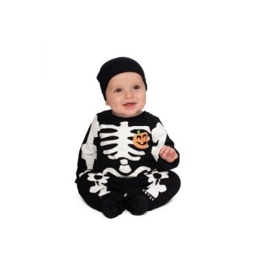 Rubie's Costume My First Halloween Black Skeleton Costume, Black, Newborn