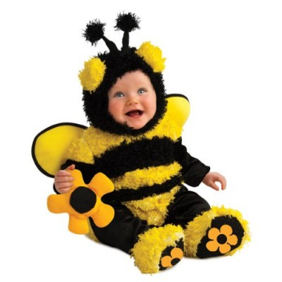 Rubie's Costume Noah's Ark Buzzy Bee Romper Costume, Yellow, Newborn