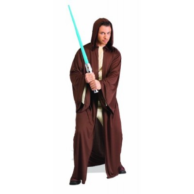 Rubie's Costume Star Wars Adult Hooded Jedi Robe Costume, Brown, One Size Costume