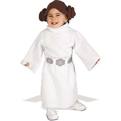 Rubie's Costume Star Wars Princess Leia Romper, White, 1-2 years