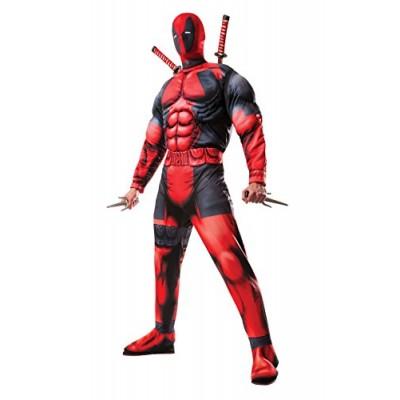 Rubie's Men's Marvel Universe Classic Muscle Chest Deadpool Costume, Multi-Colored, Standard
